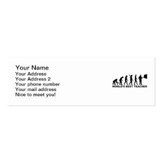 World s best Teacher Evolution Business Card