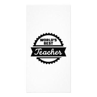 World s best Teacher Photo Card Template