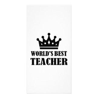 World s best Teacher Custom Photo Card