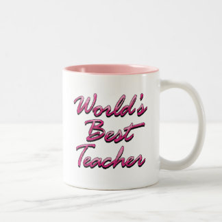 World s Best Teacher-Pink Coffee Mug