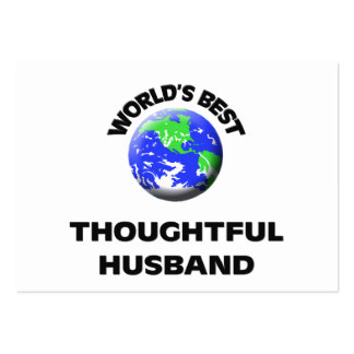 World s Best Thoughtful Husband Business Cards