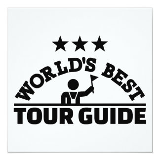 World's best tour guide card