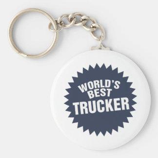 World s Best Trucker Truck Driver Hauler Keychain
