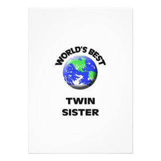 World s Best Twin Sister Custom Invitation