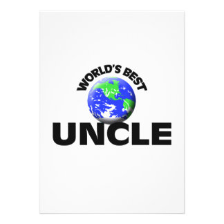 World s Best Uncle Personalized Invitations