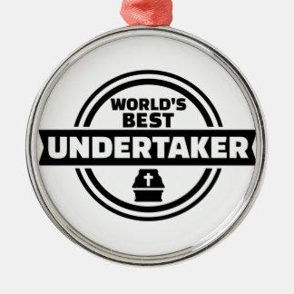 World's best undertaker Silver-Colored round decoration