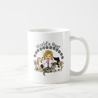 World s Best Veterinarian Mug -Female Blond Hair