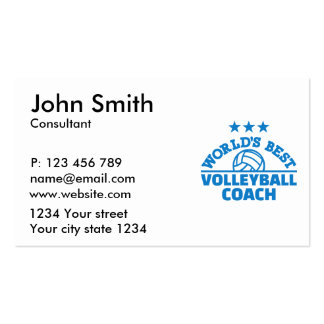 World's best volleyball coach pack of standard business cards
