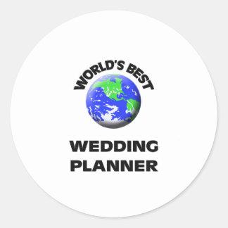 World s Best Wedding Planner Round Sticker