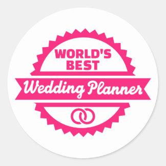 World's best wedding planner round sticker