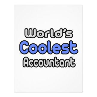 World s Coolest Accountant Flyer Design
