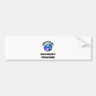 World s Coolest Advisory Teacher Bumper Sticker