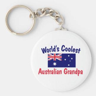 World s Coolest Australian Grandpa Key Chain