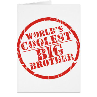 World s Coolest Big Brother Greeting Cards