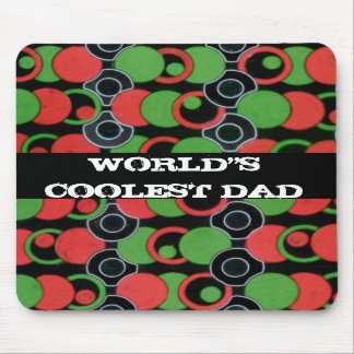 World s Coolest Dad Modern Art Mousepad