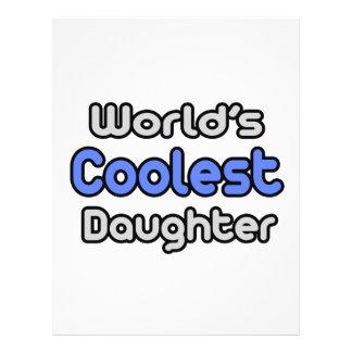 World s Coolest Daughter Flyer Design