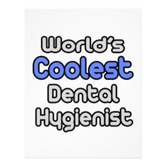 World s Coolest Dental Hygienist Full Color Flyer