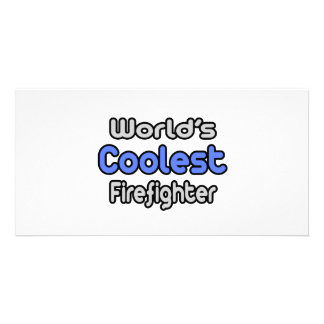 World s Coolest Firefighter Photo Greeting Card