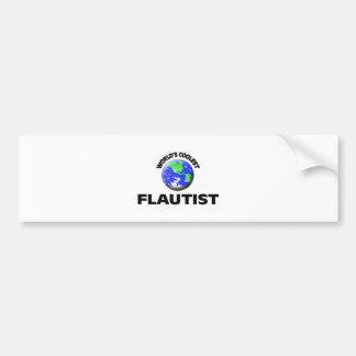 World s Coolest Flautist Bumper Sticker