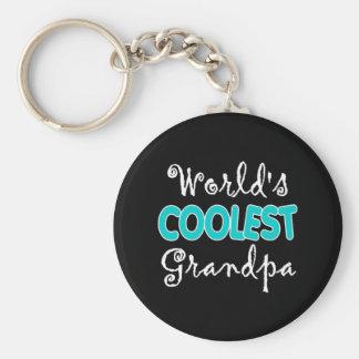 World s Coolest Grandpa Keychain