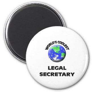 World s Coolest Legal Secretary Fridge Magnet