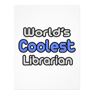 World s Coolest Librarian Custom Flyer