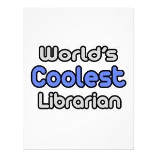 World s Coolest Librarian Custom Flyer