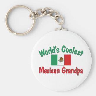 World s Coolest Mexican Grandpa Key Chain