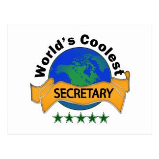 World s Coolest Secretary Postcard