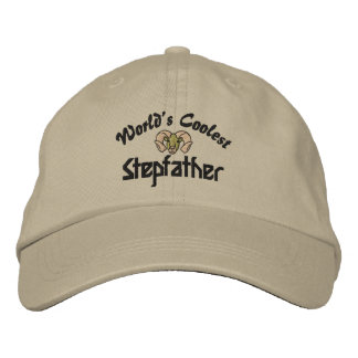 World s Coolest Stepfather Embroidered Hat