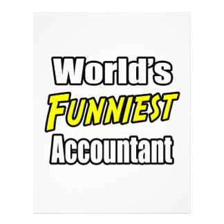 World s Funniest Accountant Full Color Flyer