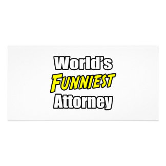 World s Funniest Attorney Customized Photo Card
