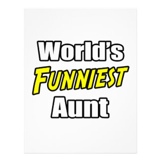 World s Funniest Aunt Personalized Flyer