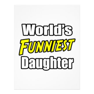 World s Funniest Daughter Personalized Flyer