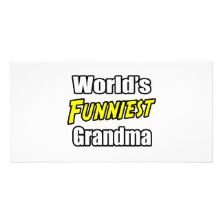 World s Funniest Grandma Picture Card