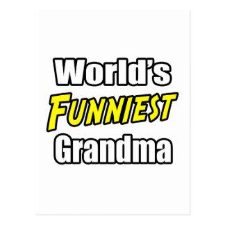 World s Funniest Grandma Post Card