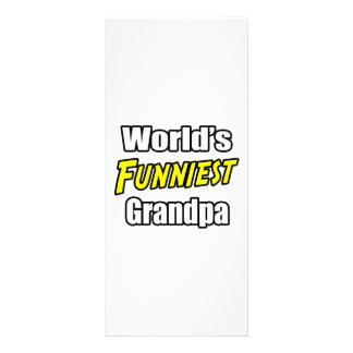 World s Funniest Grandpa Custom Rack Card