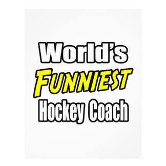 World s Funniest Hockey Coach Full Color Flyer