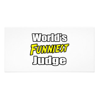 World s Funniest Judge Photo Card Template