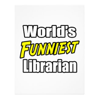 World s Funniest Librarian Personalized Flyer