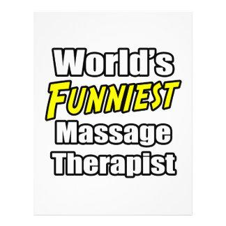 World s Funniest Massage Therapist Flyers