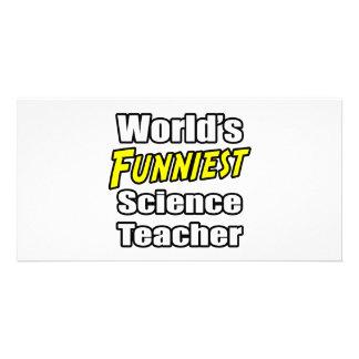 World s Funniest Science Teacher Photo Card Template
