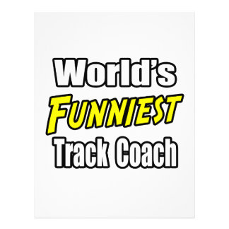 World s Funniest Track Coach Personalized Flyer