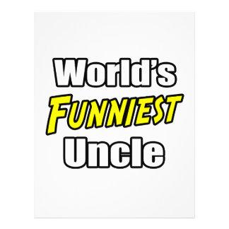 World s Funniest Uncle Custom Flyer