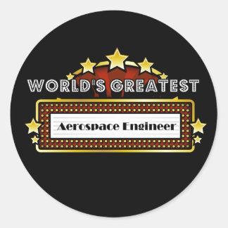 World s Greatest Aerospace Engineer Round Sticker