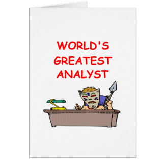 world s greatest analyst greeting cards