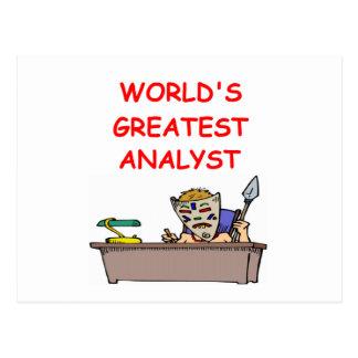world s greatest analyst postcard