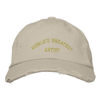 WORLD S GREATEST ARTIST EMBROIDERED BASEBALL CAPS