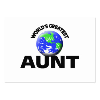 World s Greatest Aunt Business Cards