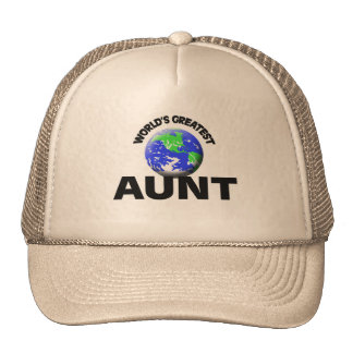 World s Greatest Aunt Mesh Hat